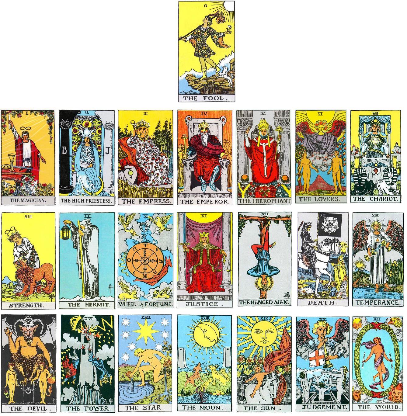 The Major Arcana cards